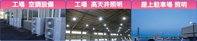 工場空調設備・工場髙天井照明・屋上駐車場照明