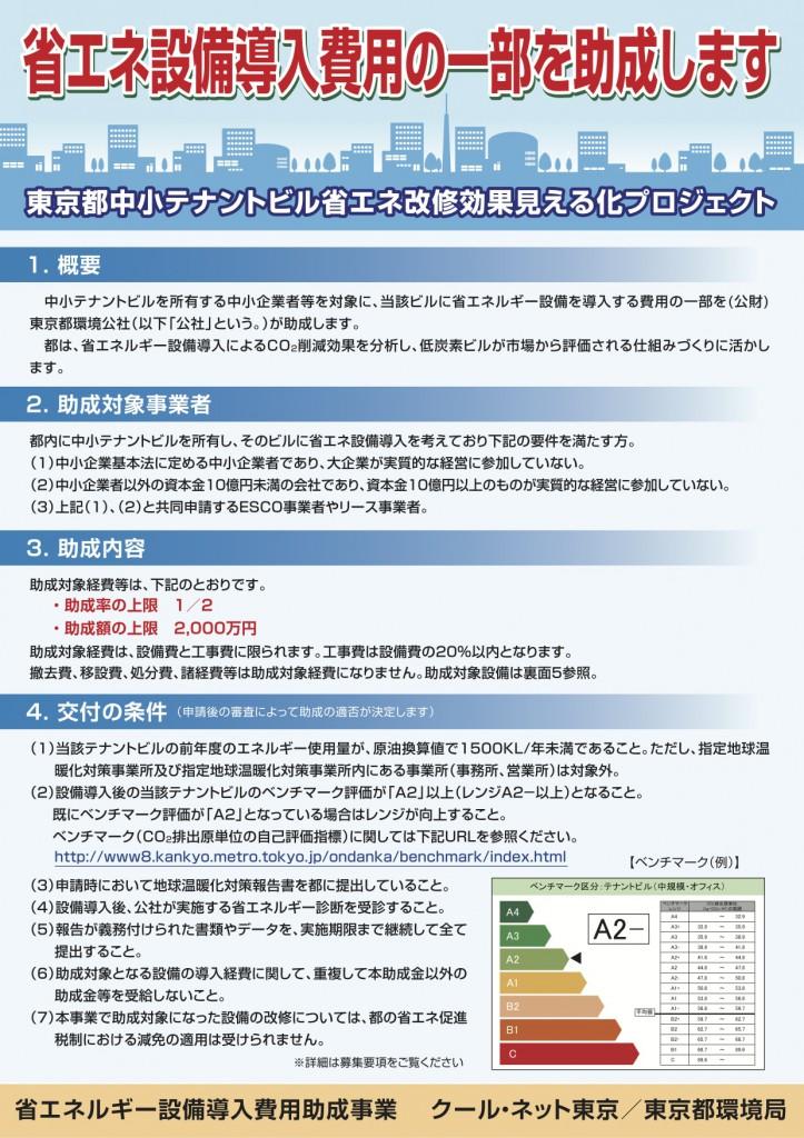 東京都中小テナントビル省エネ回収効果見える化プロジェクト1/2